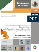 Guía de práctica clínica de diarrea aguda en pediatría.
