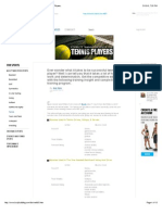 Training Protocol for Tennis Players.