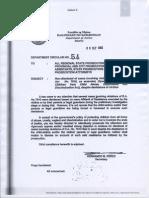 DepartmentCircularOrderNo.54