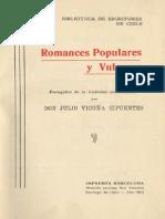 Julio Vicuña Cifuentes - Romances Populares y Vulgares