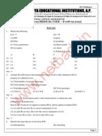 EAMCET sample paper-6 (AP Eamcet 2015- medical question paper)