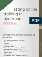 SAP TESTING Online Training in Ameerpet,Hyderbad,Usa&Uk