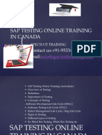 Sap Testing Online Training in Canada