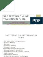 SAP TESTING Online Training in Dubai