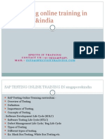 SAP TESTING Online Training in Hyderbad,Bangalore,Pune,India&Singapore