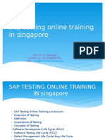 SAP TESTING Online Training in Singapore