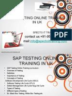 SAP TESTING Online Training in Uk