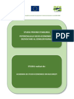 Studiu Potential Socio Economic de Dezvoltare Zone Rurale Ver10.04.2015