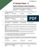 AICTE CMAT Sample Paper-2