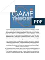 Game Theory Turkish description, Oyun Teorisi