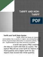 Tariff and Non-tariff