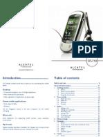 Alcatel OT 710 UserManual English