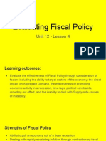 unit 12 - lesson 4 - evaluating fiscal policy