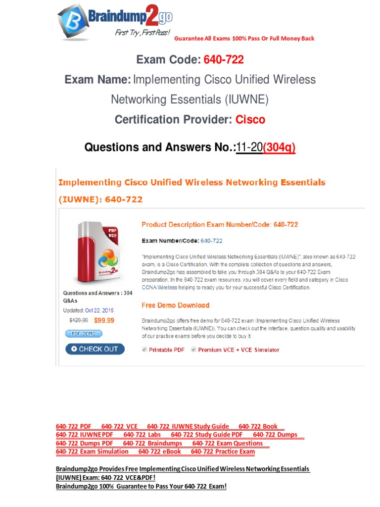 Ccna Wireless 640-722 Study Guide Pdf