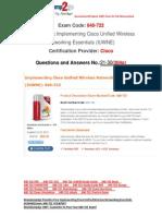 [FREE]Braindump2go Latest 640-722 Exam Questions 21-30