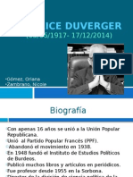 Maurice Duverger exposicion