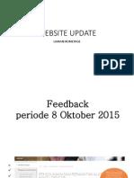 Website Project Update - Feedback 8 & 10 Okt 2015
