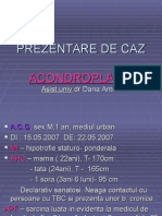 Prezentare de Caz - Acondroplazia