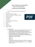 Training Report Instructions Civil