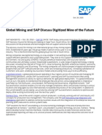 Global Mining and SAP Discuss Digitized Mine of the Future
