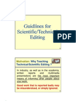 GUIDELINES FOR TECHNICAL WRITING IN BIOMEDICAL