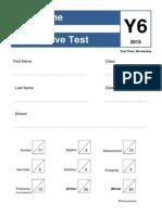 1 summative test year 6 written