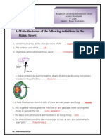 Quarter 1 Exam Worksheets . Model Answer