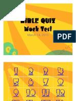 Bible Quiz - Mock Test Mar 13, 2010