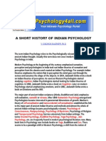 A Short History of Indian Psychology