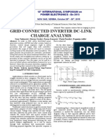 Grid Connected Inverter DC-link Charge Analysis ABSTRACT