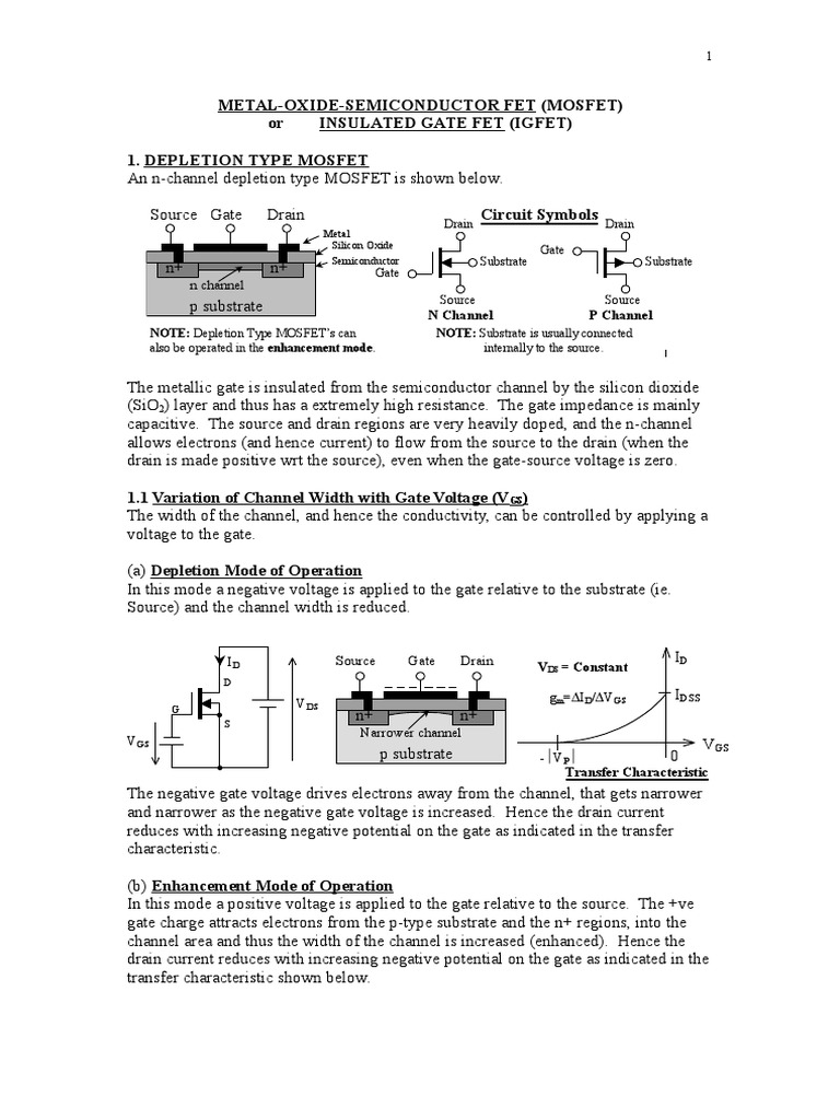 Mosfet s field effect transistor mosfet biocorpaavc Images