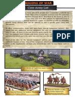 SoWDotC Core Army List