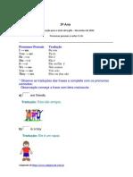 5º Ano Pronomes Pessoais e Verbo to Be