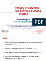01. a Summary of Essential Differences Between EC2 and BS8110 Code (2014 10 07)