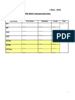 2008 Area Championship Entry Form
