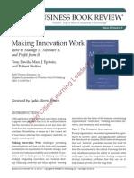 [Summary] Making Innovation Work Tony Davila, Marc J. Epstein 2007