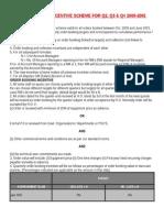 Sample Sales Incentive Scheme for Quarter