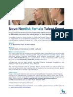 Novo Nordisk Female Talent Event at Varne Palæet