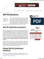 SAP BI Questions - SAP Certification