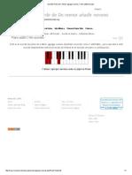 Acordes Piano de C Minor Agregar Noveno_ C Min Add9 Acordes