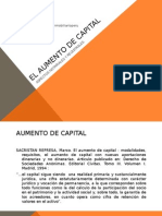 El aumento de capital