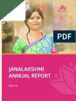 Janalaxmi Annual Report 2014 15