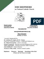 Good Shepherd ANCC Bulletin 10/25