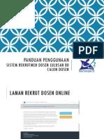 Panduan Rekrut Dosen Online