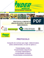 protocolo deportivo