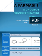 MONOGRAFI CHLORPHENIRAMINI MALEAS