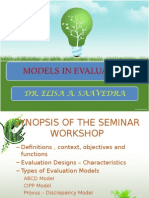 Models in Evaluation