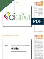 """Gestaltung Wort-Bild-Marke """"dialia"""""""