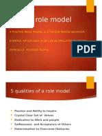 Positive Role Model Ppt