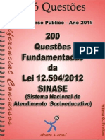 SINASE - LEI N 12.594_2012 - 200 Questoes Fundamentadas